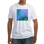 BLUE CRYSTAL Fitted T-Shirt