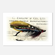 Farlow Salmon on Card Postcards (Package of 8)