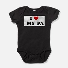 Unique I heart my auntie k Baby Bodysuit