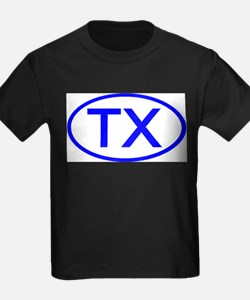 TX Oval - Texas Ash Grey T-Shirt