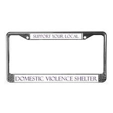 DV Shelter License Plate Frame