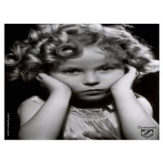 Shirley Temple Pout Wall Art Poster