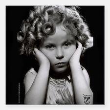 "Shirley Temple Pout Square Car Magnet 3"" x 3"""