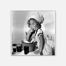 "Shirley Temple Baking Square Sticker 3"" x 3"""