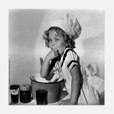 Shirley Temple Baking Tile Coaster