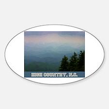 Cute West jefferson nc Sticker (Oval)