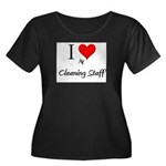 I Love My Cleaning Staff Women's Plus Size Scoop N