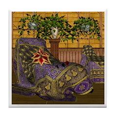 Jewels of India (Purple) Tile Coaster