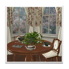 Tea House For Two Tile Coaster