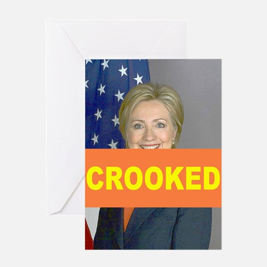 Crooked Hillary Greeting Cards