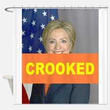 Crooked Hillary Shower Curtain