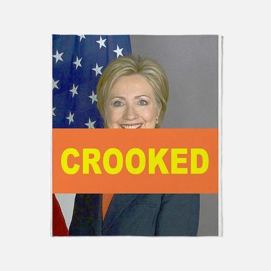 Crooked Hillary Throw Blanket