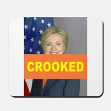 Crooked Hillary Mousepad