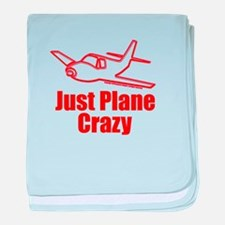 Funny Airplane baby blanket