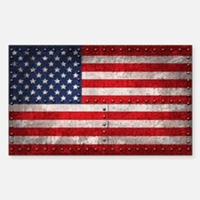 Riveting American Flag Decal