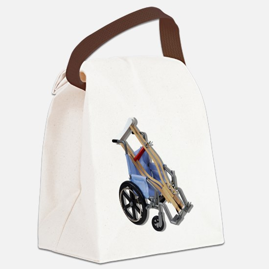 CrutchesWheelchair081210.png Canvas Lunch Bag