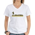 Retro Womens Volleyball Women's V-Neck T-Shirt