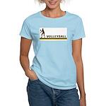 Retro Womens Volleyball Women's Light T-Shirt