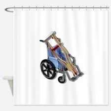 CrutchesWheelchair081210.png Shower Curtain