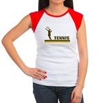 Retro Womens Tennis Women's Cap Sleeve T-Shirt