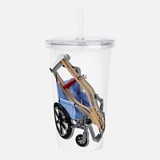 CrutchesWheelchair0812 Acrylic Double-wall Tumbler