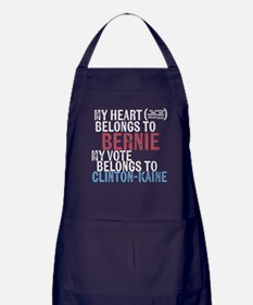 My Heart Belongs to Bernie Apron (dark)