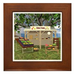 The Fruit Stand Framed Tile