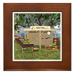 The Fruit Stand Framed Tile
