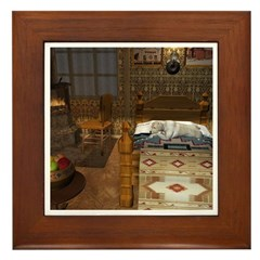 Grandma's Feathered Bed Framed Tile