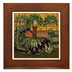 Jewels of India (Green) Framed Tile