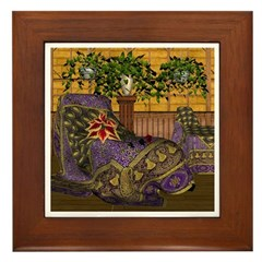Jewels of India (Purple) Framed Tile
