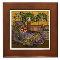Jewels of India (Purple) Framed Tile