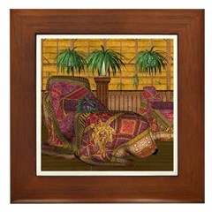 Jewels of India (Red) Framed Tile
