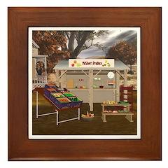 The Vegetable Stand Framed Tile