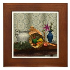 Cornucopia Framed Tile