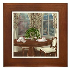 Tea For Two Framed Tile