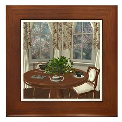 Tea House For Two Framed Tile