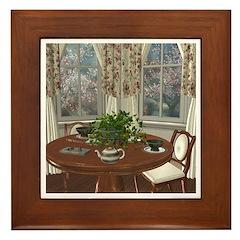 Tea House For Two Framed Tile