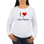 I Love My City Planner Women's Long Sleeve T-Shirt