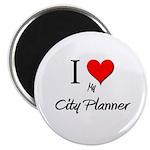 I Love My City Planner Magnet