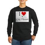 I Love My City Planner Long Sleeve Dark T-Shirt