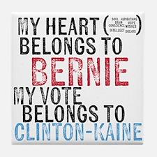 My Heart Belongs to Bernie Tile Coaster
