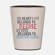 My Heart Belongs to Bernie Shot Glass