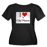 I Love My City Planner Women's Plus Size Scoop Nec