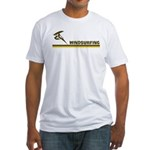 Retro Windsurfing Fitted T-Shirt
