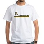 Retro Windsurfing White T-Shirt