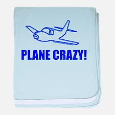 funny plane baby blanket