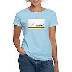 Retro Skiing Women's Light T-Shirt