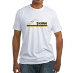 Retro Skiing Fitted T-Shirt
