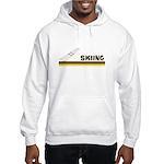 Retro Skiing Hooded Sweatshirt